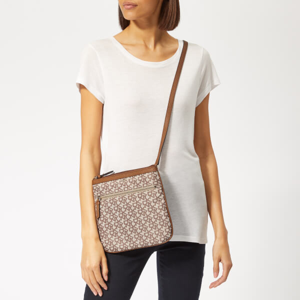 5ef8685f43 DKNY Women s Casey Zip Cross Body Bag - Cream  Image 3