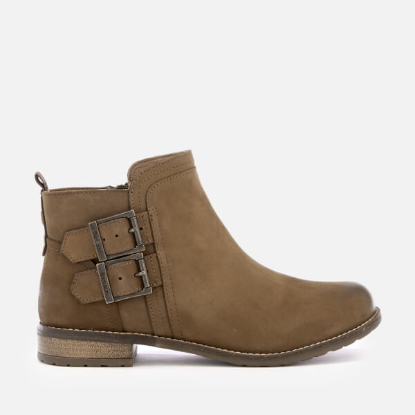 Barbour Women's Sarah Leather Buckle Flat Ankle Boots - Cognac