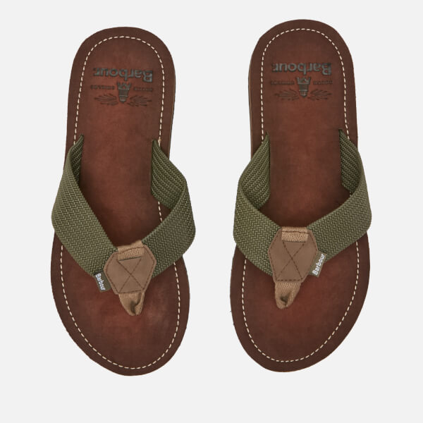 Barbour Men's Toeman Beach Toe Post Sandals - Olive
