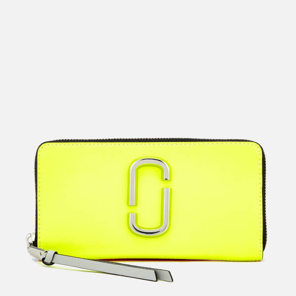 Marc Jacobs Women's Snapshot Continental Wallet - Bright Yellow Multi