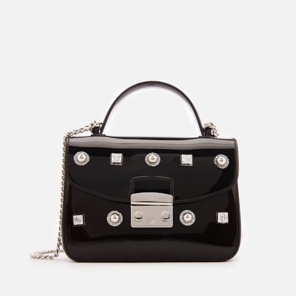 Furla Women's Candy Meringa Star Mini Cross Body Bag - Black