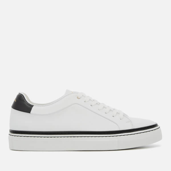 Paul Smith Men's Basso Leather Cupsole Trainers - White Black Tab