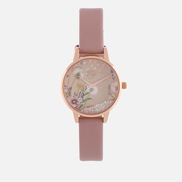 Olivia Burton Women's The Wishing Vegan Watch - Rose Sand & Rose Gold