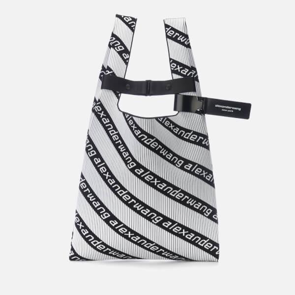 Alexander Wang Women's Knit Jacquard Shopper Bag - Black/White