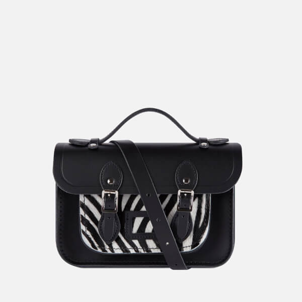 The Cambridge Satchel Company Women's Zebra Mini Satchel - Black