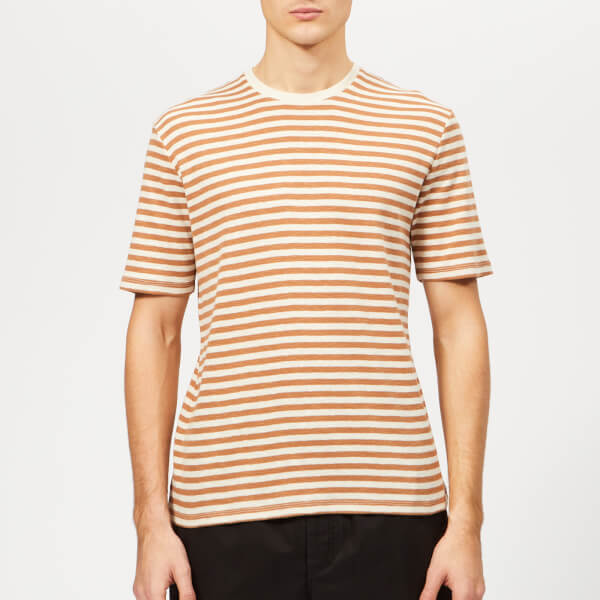 Folk Men's Classic Stripe T-Shirt - Clay Ecru