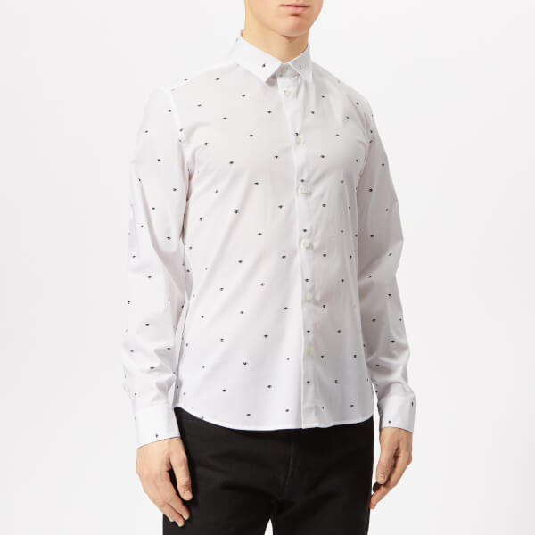 KENZO Men s All Over Eye Shirt - White - Free UK Delivery over £50 f9afe1fdb