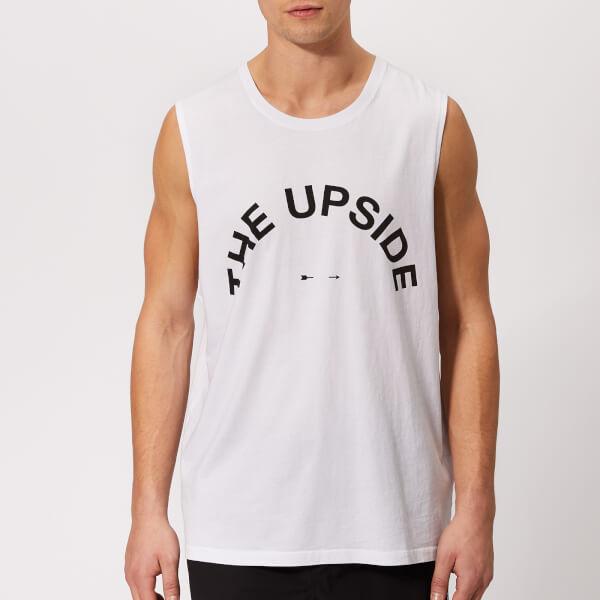 The Upside Men's Big Logo Muscle Tank Top - White
