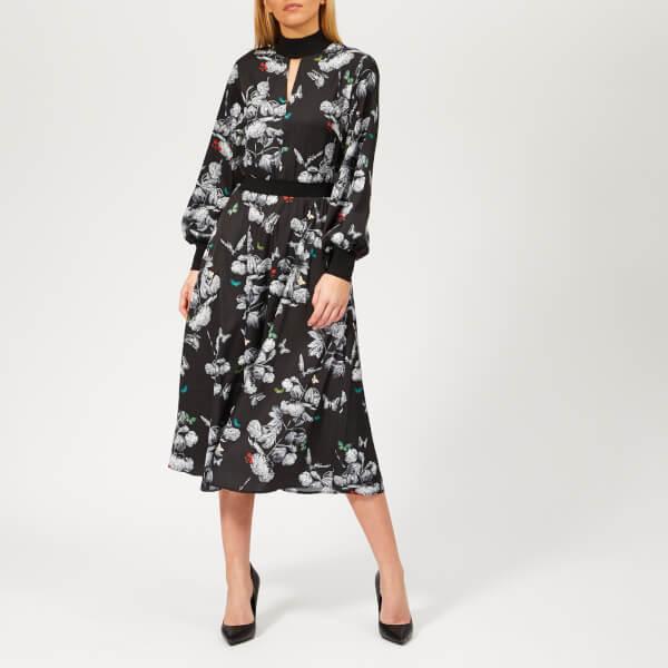 ce1a2e7d4e47f4 Ted Baker Women s Eynah Narrnia Midi Dress - Black Womens Clothing ...