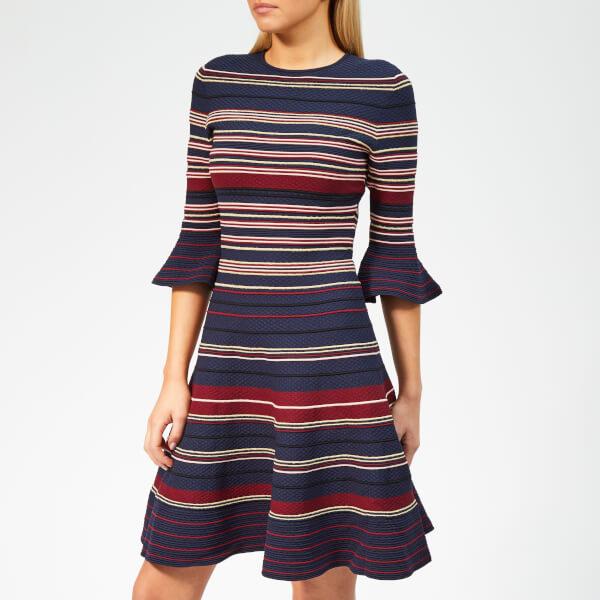 ca6fc16147f Ted Baker Women s Tayiny Stripe Ottoman Dress - Dark-Blue Womens ...