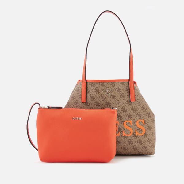 39128923e4 Guess Women s Vikky Tote Bag - Brown Orange  Image 3