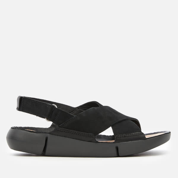 Clarks Women's Tri Chloe Cross Strap Sandals - Black Combi
