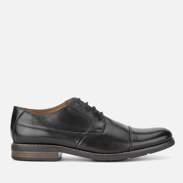 Clarks Men's Becken Cap Leather Derby Shoes - Black