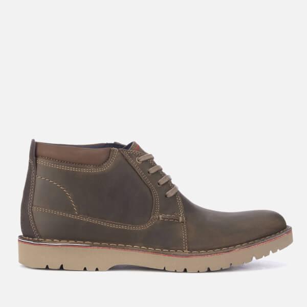 Clarks Men's Vargo Mid Leather Chukka Boots - Olive