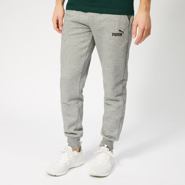 Puma Men's Essentials Logo Pants - Medium Grey Heather