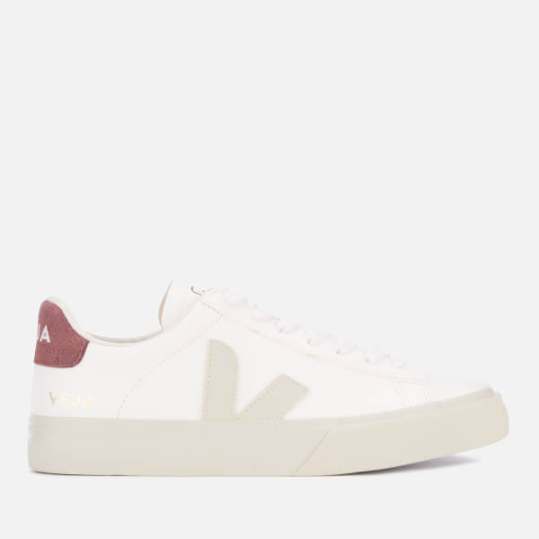 Veja Women's Campo Vegan Trainers - White/Pierre/Dried Petal