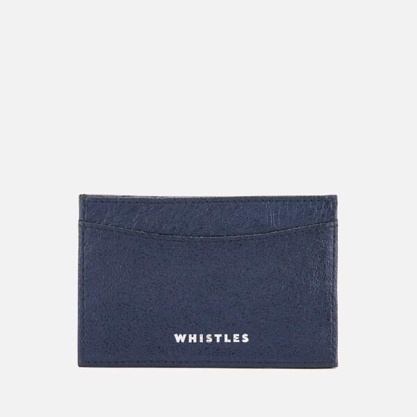 Whistles Women's Metallic Card Holder - Navy