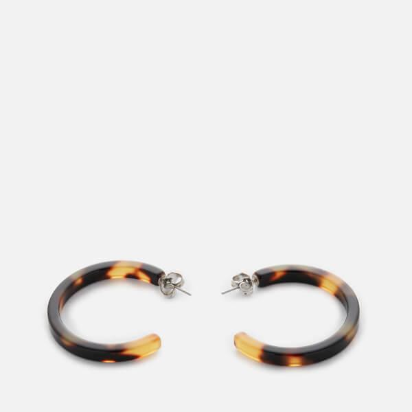 Whistles Women's Tort Hoop Earrings - Brown/Multi