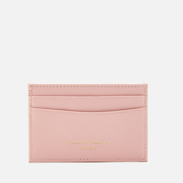 Aspinal of London Women's Slim Credit Card Case - Peony