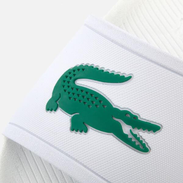 c499f04fc1f1 Lacoste Men s Croco Slide 119 1 Sandals - White Green  Image 3