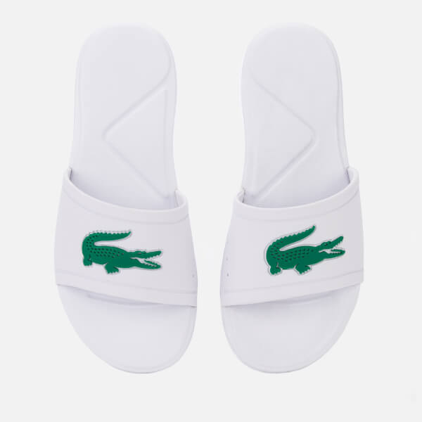 Lacoste Kids' L.30 Slide 119 2 Sandals - White/Green