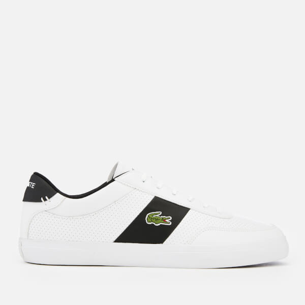 f6505d82f Lacoste Men s Court-Master 119 2 Perforated Leather Trainers - White Black   Image