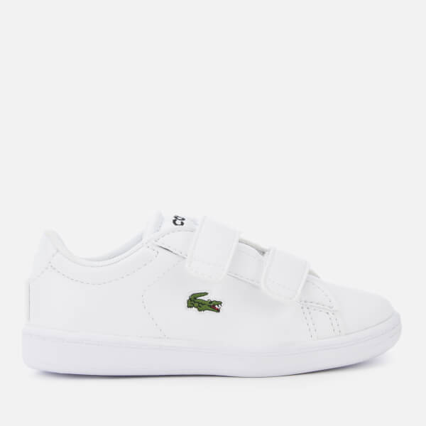 8d23f688d Lacoste Toddler s Carnaby Evo 119 7 Velcro Low Top Trainers - White White   Image