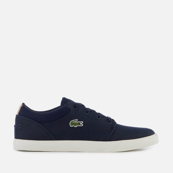 43585db14a1d99 Lacoste Men s Bayliss 119 1 Leather Lace Up Trainers - Navy Off White  Image