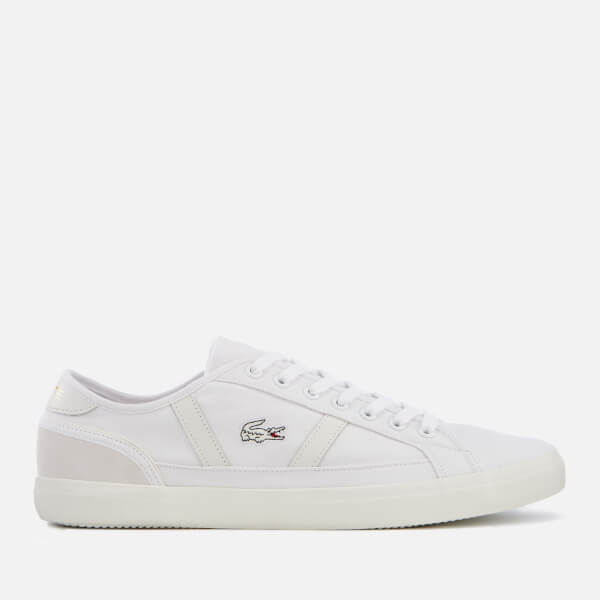 ed14ec4ce Lacoste Men s Sideline 119 1 Canvas Trainers - White Off White  Image 1