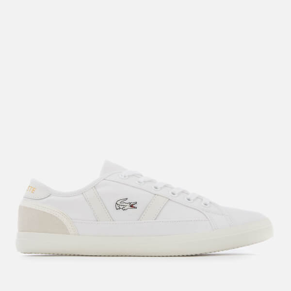 59d4a01c8588 Lacoste Women s Sideline 119 1 Canvas Vulcanised Trainers - White Off  White  Image 1