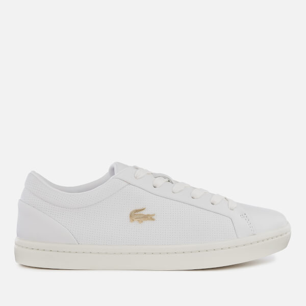 c4342346309c Lacoste Women s Straightset 119 2 Leather Cupsole Trainers - White Off White   Image 1