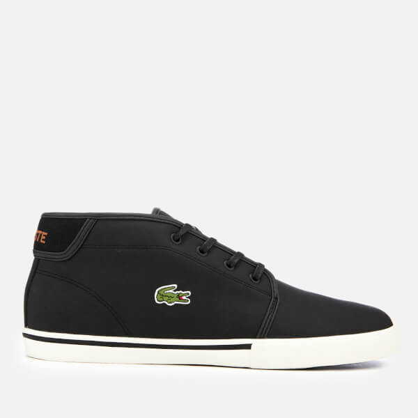Lacoste Men's Ampthill 119 1 Leather Chukka Trainers - Black/Light Brown