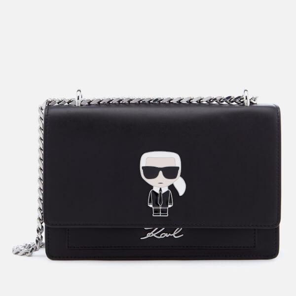 5fc25d35375c Karl Lagerfeld Women's K/Ikonik Metal Lock Shoulder Bag - Black: Image 1