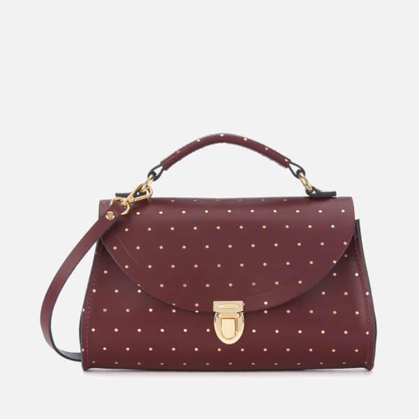 The Cambridge Satchel Company Women's Mini Poppy Bag - Gold Dot Oxblood
