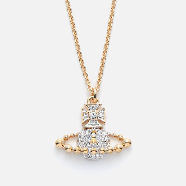 Vivienne Westwood Women's Lena Small Bas Relief Pendant - Crystal/Rhodium/Gold