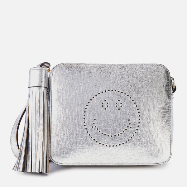 Anya Hindmarch Women's Smiley Cross Body Bag - Metallic