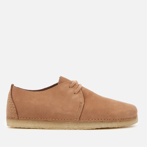 Clarks Originals Women's Ashton Nubuck Lace Up Shoes - Light Tan