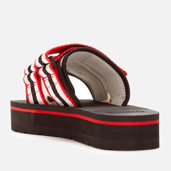 Hunter Original Flatform Red Sandals Women's Beach Slide b6gyf7