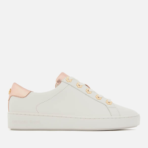 MICHAEL MICHAEL KORS Women's Irving Cupsole Trainers - Optic/Rose Gold