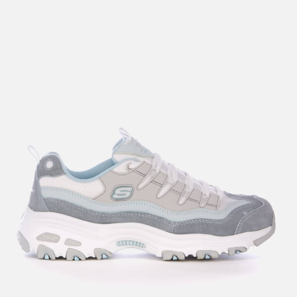 Skechers Women's D'Lites Sure Thing Trainers - Blue/Grey/White