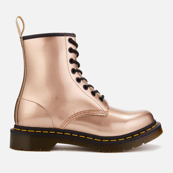 Dr. Martens Women's 1460 Vegan Chrome 8-Eye Boots - Rose Gold