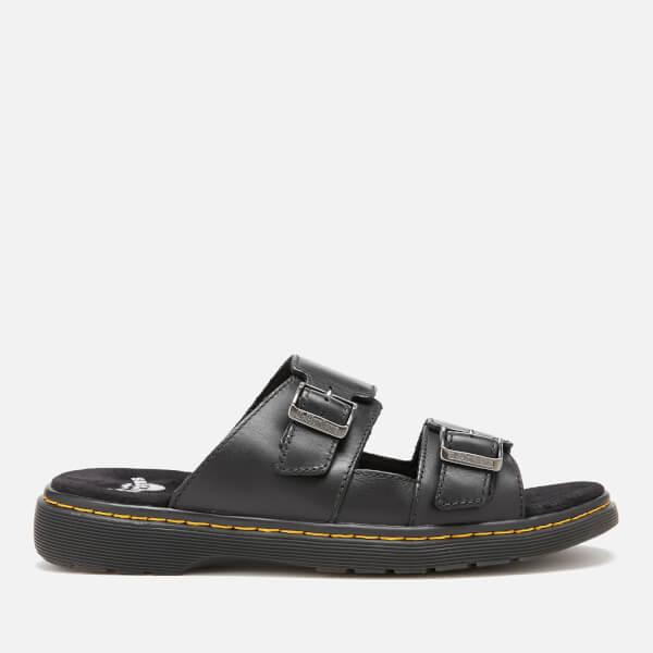 Dr. Martens Men's Nikolai Leather Double Strap Sandals - Black