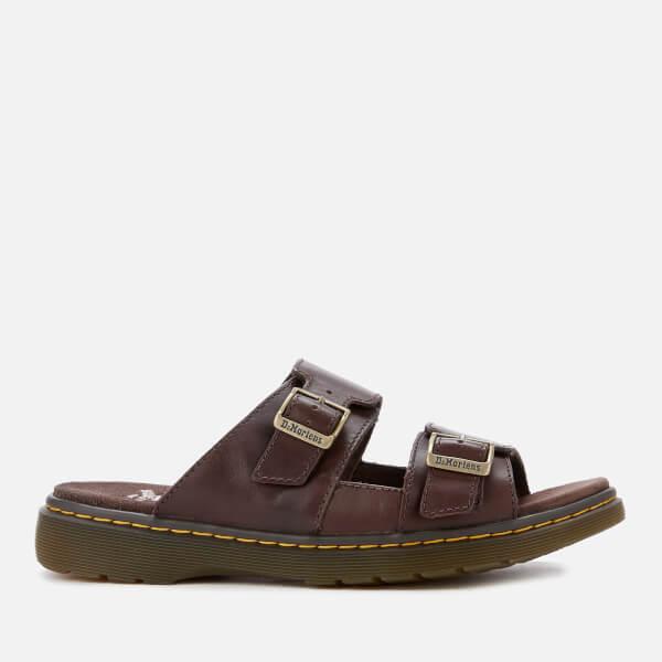 e4428504021 Dr. Martens Men s Nikolai Leather Double Strap Sandals - Dark Brown  Image 1