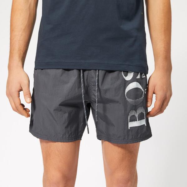 97215b745 BOSS Men's Octopus Swim Shorts - Charcoal: Image 1