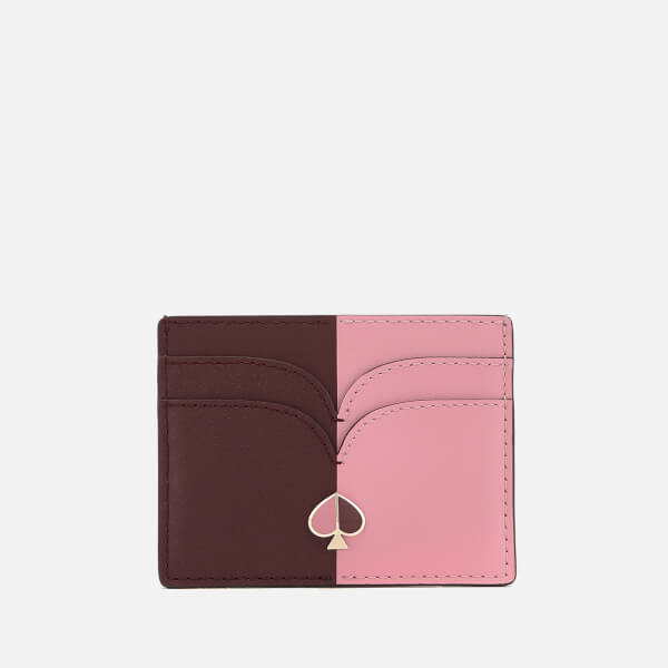Kate Spade New York Women's Nicola Bi Colour Card Holder - Roasted Fig/Rococo Pink