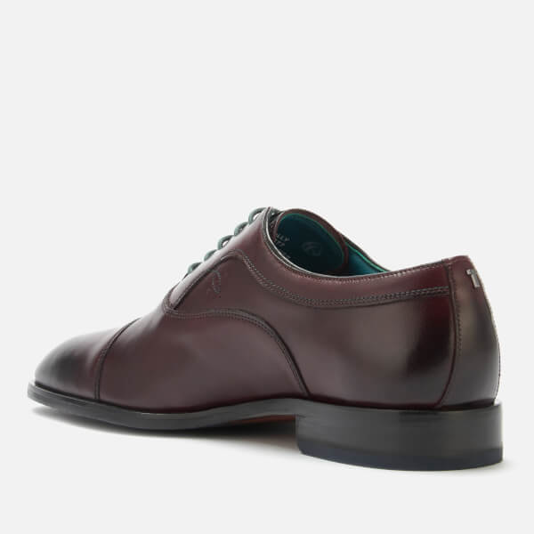 c276a89bfa51b Ted Baker Men s Fually Leather Toe Cap Oxford Shoes - Dark Red  Image 2