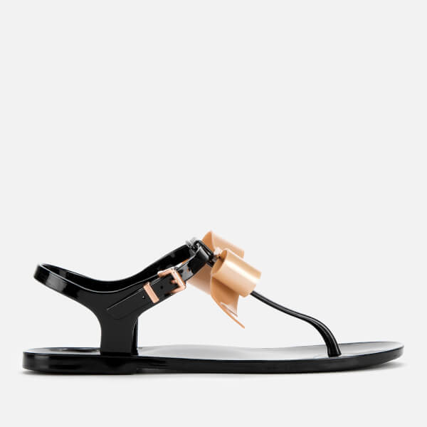 Ted Baker Women's Teiya PU Toe Post Sandals - Black