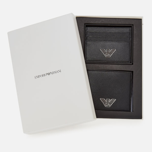 Emporio Armani Men's Wallet Gift Box - Black