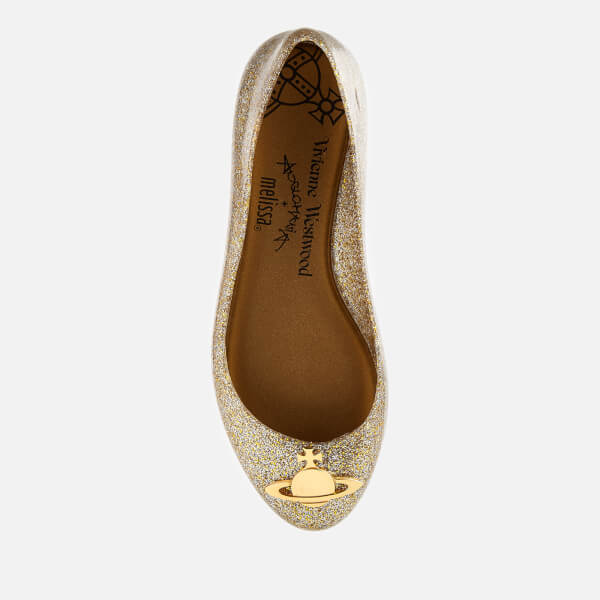 43bc585251a Vivienne Westwood for Melissa Women's Space Love 21 Ballet Flats - Gold  Glitter Orb: Image