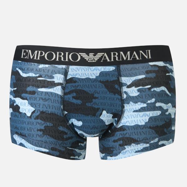Emporio Armani Men's Trunk Boxer Shorts - Blue